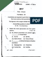 Visual Basic 2017 Bsc it Part 2 Question paper Kolhan University