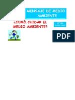 N°6 - CÓMO CUIDAR EL MEDIO AMBIENTE