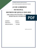 Plan de Gobierno Quillo