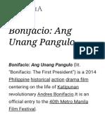 Bonifacio Ang Unang Pangulo - Wikipedia