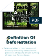 Deforestation and Its Effects1