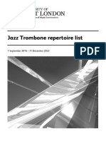 Jazz Trombone repertoire list