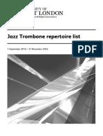 Jazz Trombone repertoire list