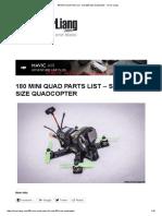 180 Mini Quad Parts List - Sub 200 Size Quadcopter - Oscar Liang