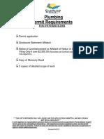 Plumbing Permit Requirements