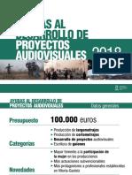 Dossier Ayudas Producción Audiovisual 2018