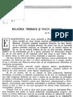 Pr. Dumitru Staniloae - Relatiile Treimice Si Viata Bisericii- 1964