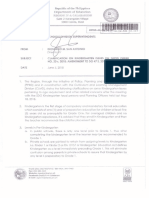 Regional Memorandum No. 307 s.2018
