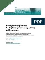 Bedrijfsnoodplan en Bedrijfshulpverlening Bhv Zelf Plannen v3