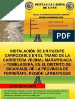 Puente Carrozable Pativilca Sobre La Acequia Pacora,