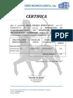 Certificado PPP Empresa