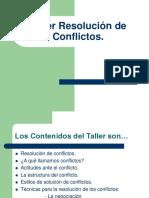 TALLER DE RESOLUCION DE CONFLICTOS (1).pps