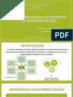 Gestão Integrada e Sustentável de Resíduos Sólidos Urbanos
