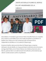 16-09-2017 en Chilpancingo, Asiste Astudillo Flores El Desfile Cívico Militar Por El 207 Aniversario de La Independencia de México.