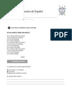 Evaluación de Diagnóstico Español 3ro