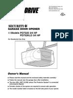 Chamberlain Power Drive Pd752d