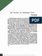 JASPERS, K. - Die Situation der Philosophie heute.pdf