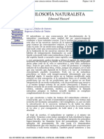 Husserl, E. - Filosofía Naturalista.pdf