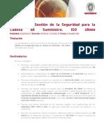 Sistemas de Gestion de La Seguridad Para La Cadena de Suministro ISO 28000