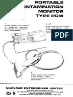 NE Portable Contamination Meter Manual Extracts