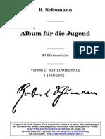 Schumann Album Fur Die Jugend Mit Fingersatz
