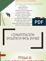 Constitución Política Del Perú Titulo 3,  por capitulos
