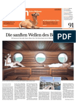 Sonntags-Zeitung über Wellnesshotel Golf Panorama