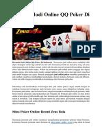 Bermain Judi Online QQ Poker Di Indonesia