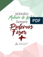 Sermao Mutirao de Natal 2017