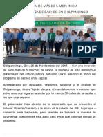 26-11-2017 Con Una Inversión de Más de 5 Mdp Inicia Astudillo Campaña de Bacheo en Chilpancingo.