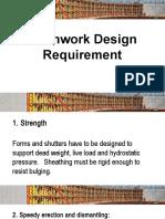 Formwork Design Requirement