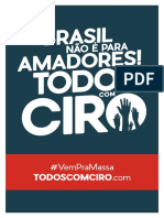 Cartaz O Brasil Não é Para Amadores