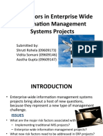 Risk Factors in Enterprise Wide Information Management Systems Projects