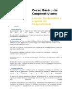 Curso Básico de Cooperativismo LECCIÓN 1