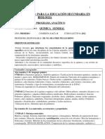 Programa 2012- Quimica General