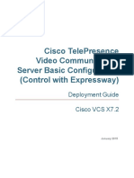 Cisco VCS Basic Configuration Control With Expressway Deployment Guide X7-2