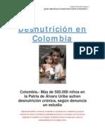 Desnutricion en Colombia