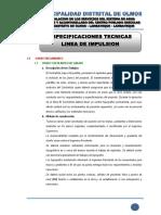 1.2 ESPECIFICACIONES TECNICAS - LINEA DE IMPULSION.pdf