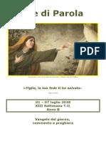 Sete di Parola - XIII domenica T.O. - anno B.doc