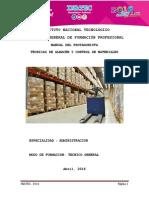 Manual de Técnicas de Almacén y Control de Materiales