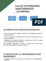 Desarrollo de Un Programa de Mantenimiento Autonomo