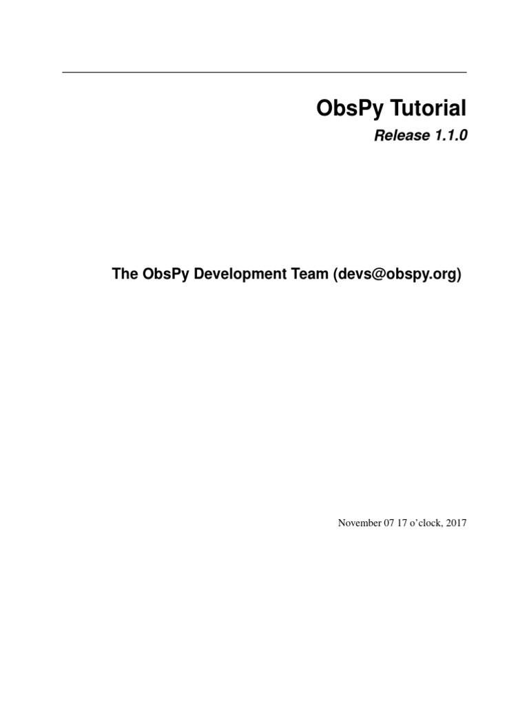 Ob Spy Tutorial | Python (Programming Language) | Metadata