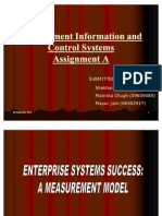 Management Information and Control SystemsAssignment A