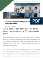 20-12-2017 Supervisa Héctor Astudillo Pavimentación de Escénica Riscalillo.