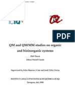 QM and QM/MM studies on organic and inorganic systems