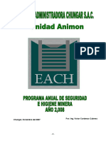 Programa Anual de Seguridad e Higiene Minera 2008