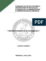 Estructura de Informe de Proyecto de Graduacion