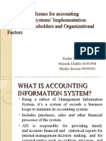 Data Quality Issues for accounting Information Systems' Implementation
