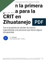 21-12-2017 Ponen La Primera Piedra Para La CRIT en Zihuatanejo.