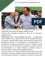 22-12-2017 Respalda Astudillo a La Orquesta Filarmónica de Acapulco.